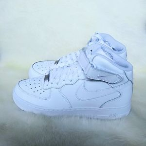 Nike Air Force 1 Mid Womens White Sneakers